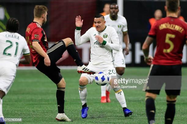 Portland Timbers midfielder David Guzman reacts during the MLS Cup between the Atlanta United FC and the Portland Timbers on December 8 2018 at the...