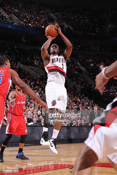 Portland Trail Blazers guard Wesley Matthews goes for a jump shot during a game against the Portland Trail Blazers on January 20 2011 at the Los...