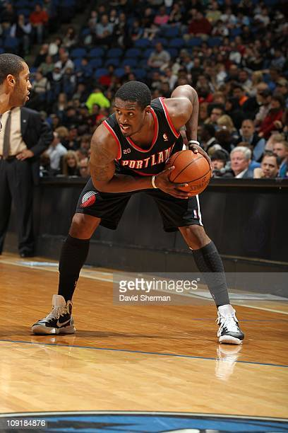 Portland Trail Blazers guard Wesley Matthews protects the ball during the game against the Minnesota Timberwolves on February 14 2011 at Target...