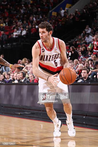 Portland Trail Blazers shooting guard Rudy Fernandez protects the ball during a game against the Golden State Warriors on December 18 2010 at the...
