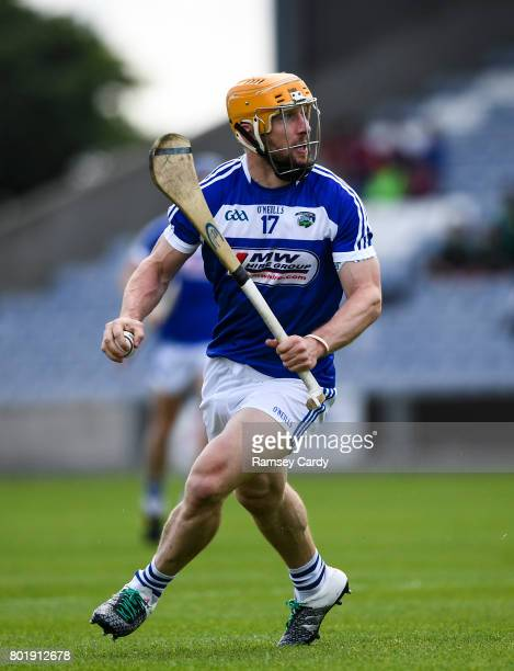 Portlaoise Ireland 25 June 2017 Cahir Healy of Laois during the GAA Hurling AllIreland Senior Championship Preliminary Round match between Laois and...