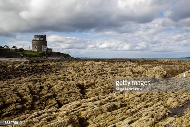 portmarnock beach, county dublin, republic of ireland - dublin republic of ireland stock pictures, royalty-free photos & images