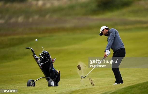 Portmarnock Ireland 19 June 2019 David Ravetto of France plays a shot on the 10th during day 3 of the RA Amateur Championship at Portmarnock Golf...