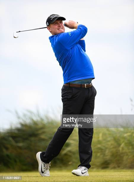 Portmarnock Ireland 19 June 2019 Eanna Griffin of Waterford Golf Club Co Waterford Ireland watches his shot from the 15th tee during day 3 of the RA...
