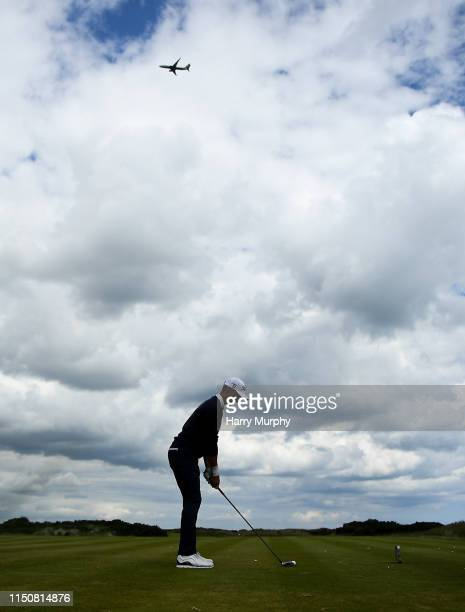Portmarnock Ireland 19 June 2019 Gerold Folk of Austria prepares to drive on the tee box during day 3 of the RA Amateur Championship at Portmarnock...