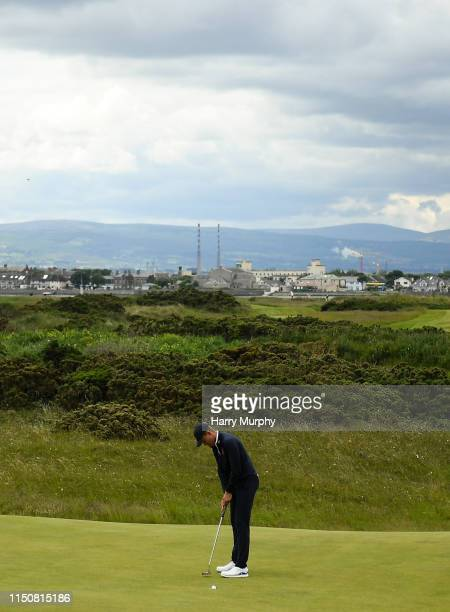 Portmarnock Ireland 19 June 2019 Koe Kouweanaar of Netherlands putts on the 12th green during day 3 of the RA Amateur Championship at Portmarnock...