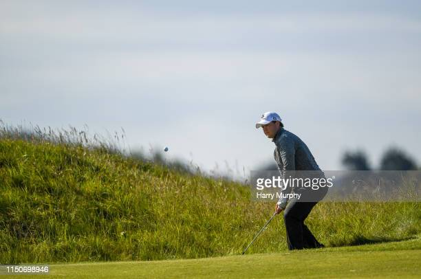 Portmarnock Ireland 19 June 2019 Morton Toft Hansen of Denmark playing from the rough during day 3 of the RA Amateur Championship at Portmarnock Golf...