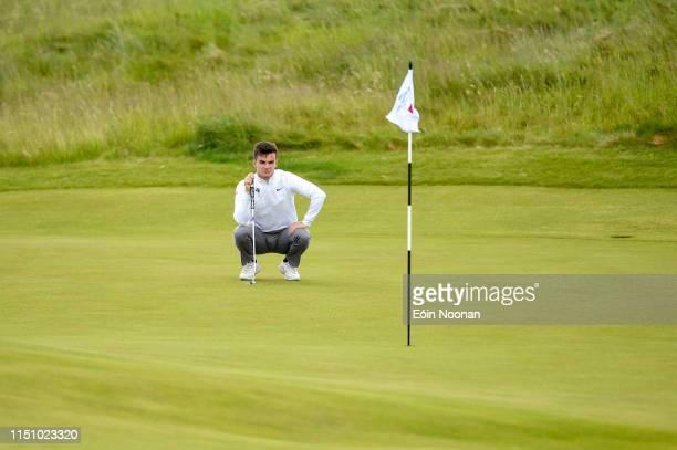 Portmarnock Ireland 20 June 2019 Daniel O'Loughlin of Ruddington Grange Golf Club United Kingdom lines up a putt on the 5th green during day 4 of the...