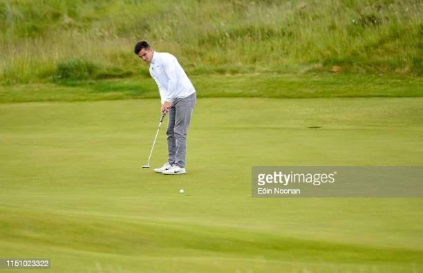 Portmarnock Ireland 20 June 2019 Daniel O'Loughlin of Ruddington Grange Golf Club United Kingdom putting on the 5th green during day 4 of the RA...