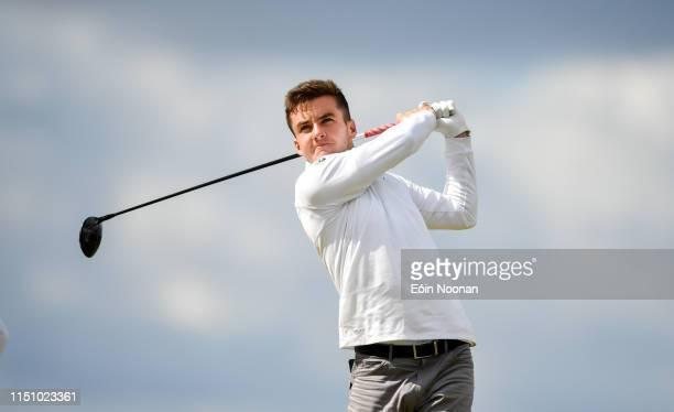 Portmarnock Ireland 20 June 2019 Daniel O'Loughlin of Ruddington Grange Golf Club United Kingdom watches his shot from the 6th tee box during day 4...