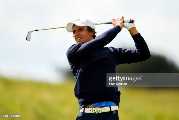 Portmarnock Ireland 20 June 2019 Riccardo Leo of Italy watches his second shot on the 6th fairway during day 4 of the RA Amateur Championship at...