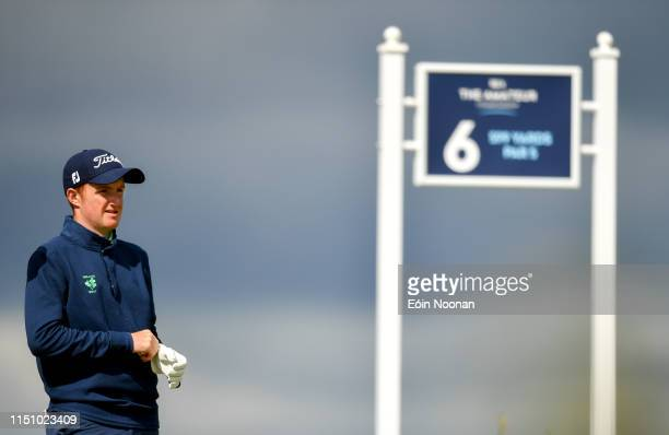 Portmarnock Ireland 20 June 2019 Ronan Mullarney of Galway Golf Club Galway Ireland on the 6th tee box during day 4 of the RA Amateur Championship at...