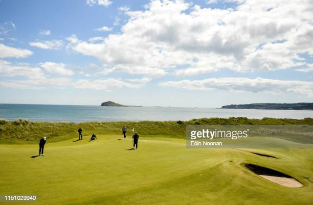 Portmarnock Ireland 20 June 2019 Sergio Parriego Cornejo of Spain putting on the 15th green during day 4 of the RA Amateur Championship at...