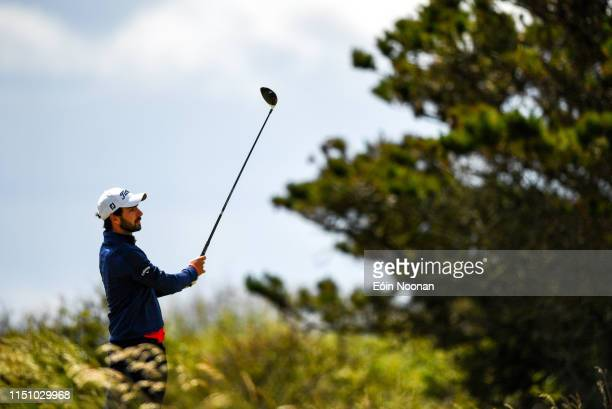 Portmarnock Ireland 20 June 2019 Sergio Parriego Cornejo of Spain watches his tee shot on the 16th tee box during day 4 of the RA Amateur...