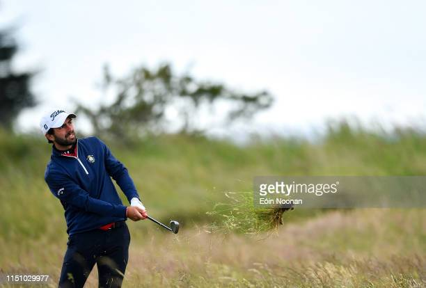 Portmarnock Ireland 20 June 2019 Sergio Parriego Cornejo of Spain watches his shot from the rough on the 16th hole during day 4 of the RA Amateur...