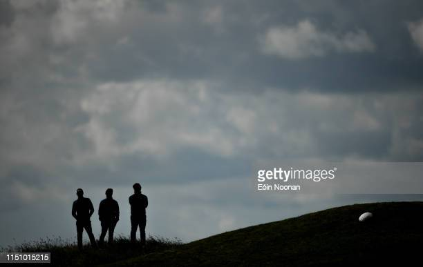 Portmarnock Ireland 20 June 2019 Spectators watch from a hill during day 4 of the RA Amateur Championship at Portmarnock Golf Club in Dublin