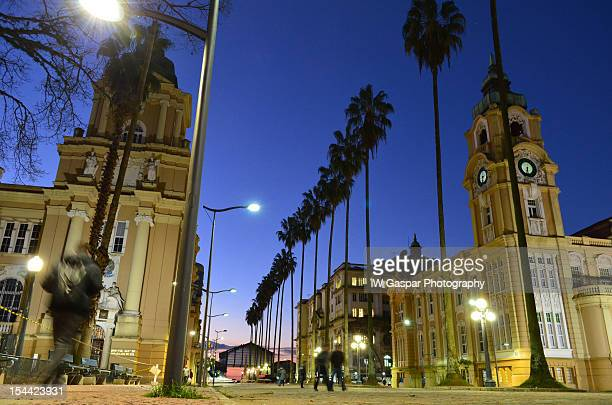 porto alegre blue hour - porto alegre stock pictures, royalty-free photos & images