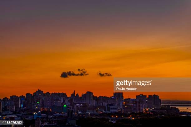 porto alegre cityscape - porto alegre stock pictures, royalty-free photos & images