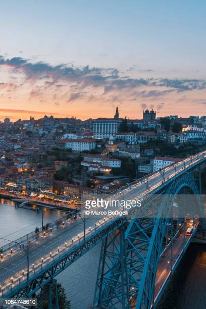 porto (oporto) and dom luis i bridge, portugal - porto portugal stock pictures, royalty-free photos & images