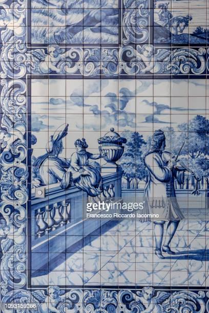 porto, azulejos - iacomino portugal foto e immagini stock