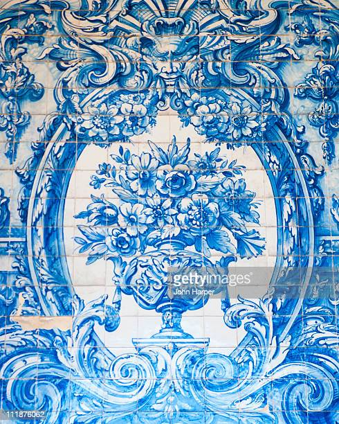 porto cathedral fresco detail, porto, portugal - mural stock pictures, royalty-free photos & images