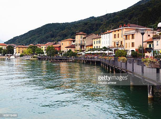 porto ceresio. color image - varese stock pictures, royalty-free photos & images