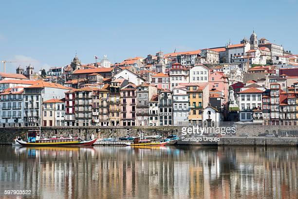 Porto city alongside Douro River