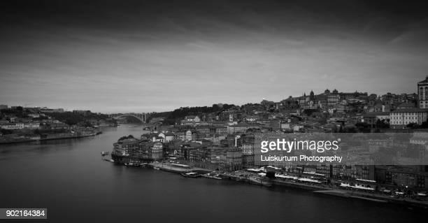 Porto City B&W image