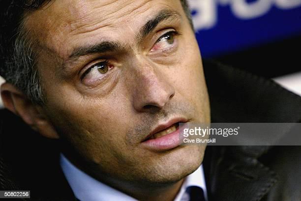 Porto coach Jose Dos Santos Mourinho looks on prior to the UEFA Champions League Semi Final Second Leg match between Deportivo La Coruna and FC Porto...