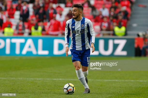 FC Porto Defender Alex Telles from Brazil during the Premier League 2017/18 match between SL Benfica v FC Porto at Luz Stadium in Lisbon on April 15...