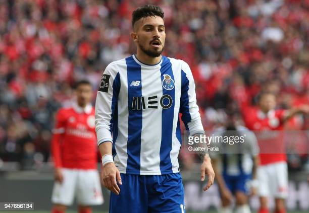 Porto defender Alex Telles from Brazil during the Primeira Liga match between SL Benfica and FC Porto at Estadio da Luz on April 15 2018 in Lisbon...