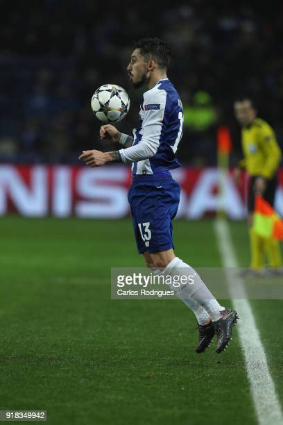 Porto defender Alex Telles from Brazil during the UEFA Champions League Round of 16 First Leg match between FC Porto and Liverpool at Estadio do...