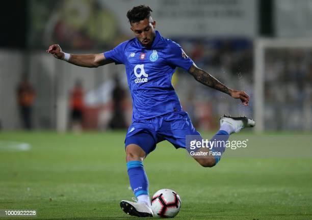 Porto defender Alex Telles from Brazil in action during the PreSeason Friendly match between Portimonense SC and FC Porto at Estadio Municipal de...