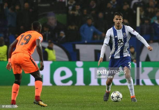 Porto defender Diego Reyes from Mexico in action during the UEFA Champions League Round of 16 First Leg match between FC Porto and Liverpool FC at...