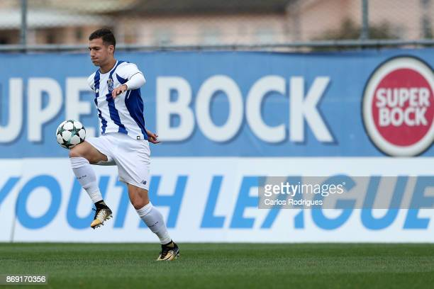Porto defender Diogo Dalot from Portugal during the match between FC Porto v RB Leipzig for the UEFA Youth Champions League match at Centro de Treino...
