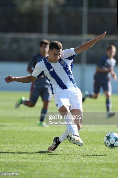 Porto defender Diogo Dalot from Portugal during the match between FFC Porto v Besiktas JK for the UEFA Youth Champions League match at Centro de...