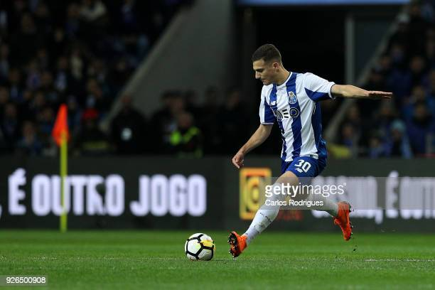 Porto defender Diogo Dalot from Portugal during the Portuguese Primeira Liga match between FC Porto and Sporting CP at Estadio do Dragao on March 2...
