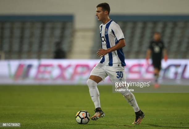 Porto defender Diogo Dalot from Portugal in action during the Portuguese Cup match between Lusitano Ginasio Clube and FC Porto at Estadio do Restelo...