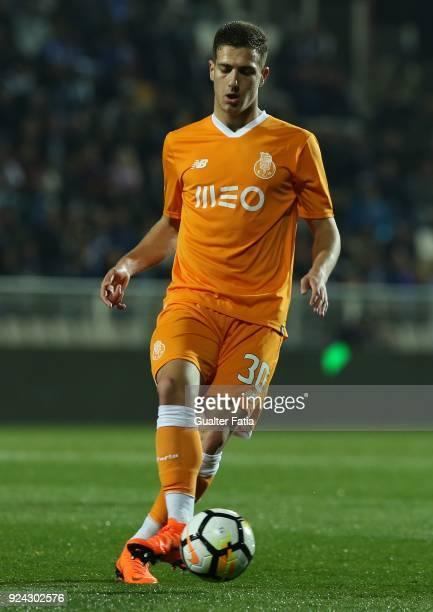 Porto defender Diogo Dalot from Portugal in action during the Portuguese Primeira Liga match between Portimonense SC and FC Porto at Estadio...