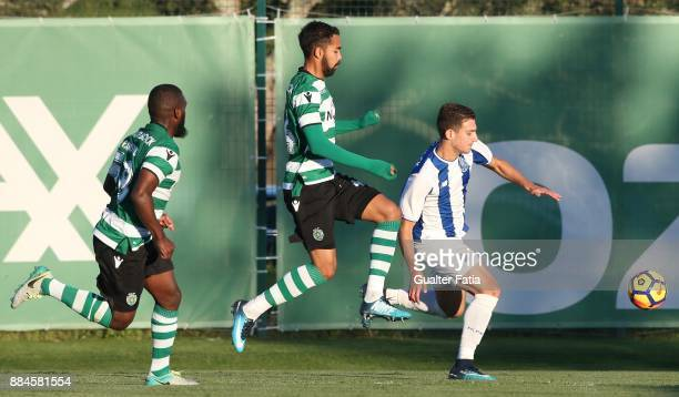 Porto defender Diogo Dalot from Portugal in action during the Segunda Liga match between Sporting CP B and FC Porto B at CGD Stadium Aurelio Pereira...