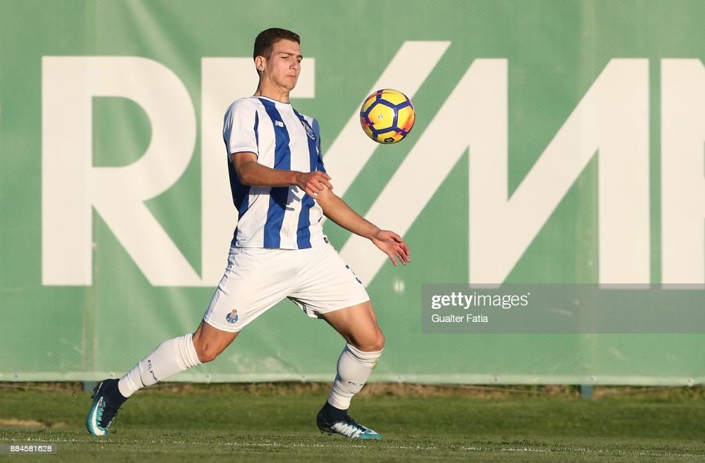 FC Porto defender Diogo Dalot from Portugal in action during the Segunda Liga match between Sporting CP B and FC Porto B at CGD Stadium Aurelio Pereira on December 2, 2017 in Alcochete, Portugal.