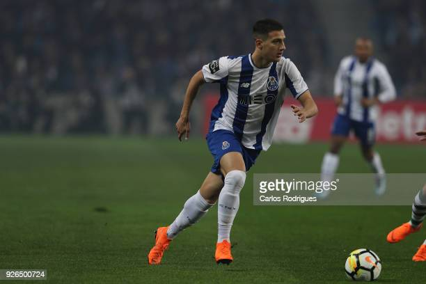 Porto defender Diogo Dalot from Portugalduring the Portuguese Primeira Liga match between FC Porto and Sporting CP at Estadio do Dragao on March 2...