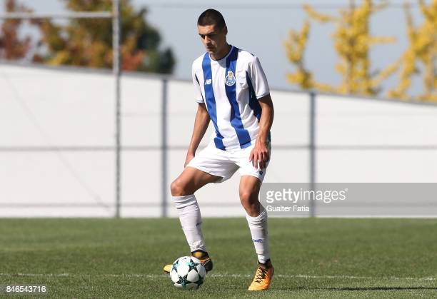 Porto defender Diogo Leite in action during the UEFA Youth League match between FC Porto and Besiktas JK at Centro de Estagios do Olival on September...