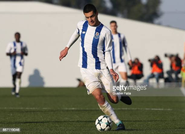 Porto defender Diogo Leite in action during the UEFA Youth League match between FC Porto and AS Monaco at Centro de Estagios do Olival on December 6...