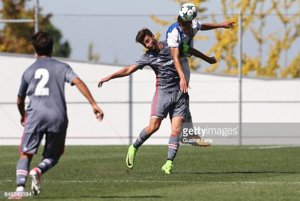 Porto defender Diogo Leite with Besiktas forward Muhammed Ozturk from Turkey in action during the UEFA Youth League match between FC Porto and...