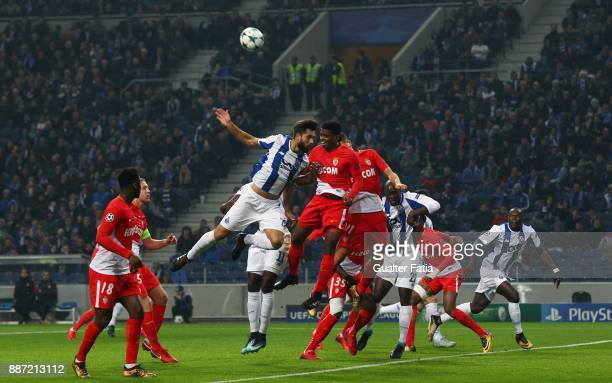 Porto defender Felipe from Brazil with Monaco defender Jemerson from Brazil in action during the UEFA Champions League match between FC Porto and AS...