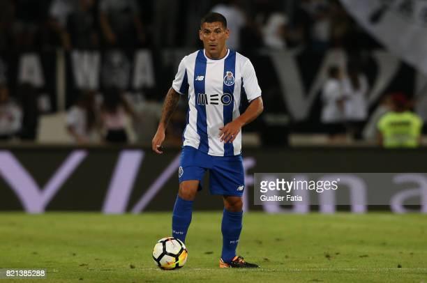 Porto defender Maxi Pereira from Uruguay in action during the PreSeason Friendly match between Vitoria de Guimaraes and FC Porto at Estadio D Afonso...