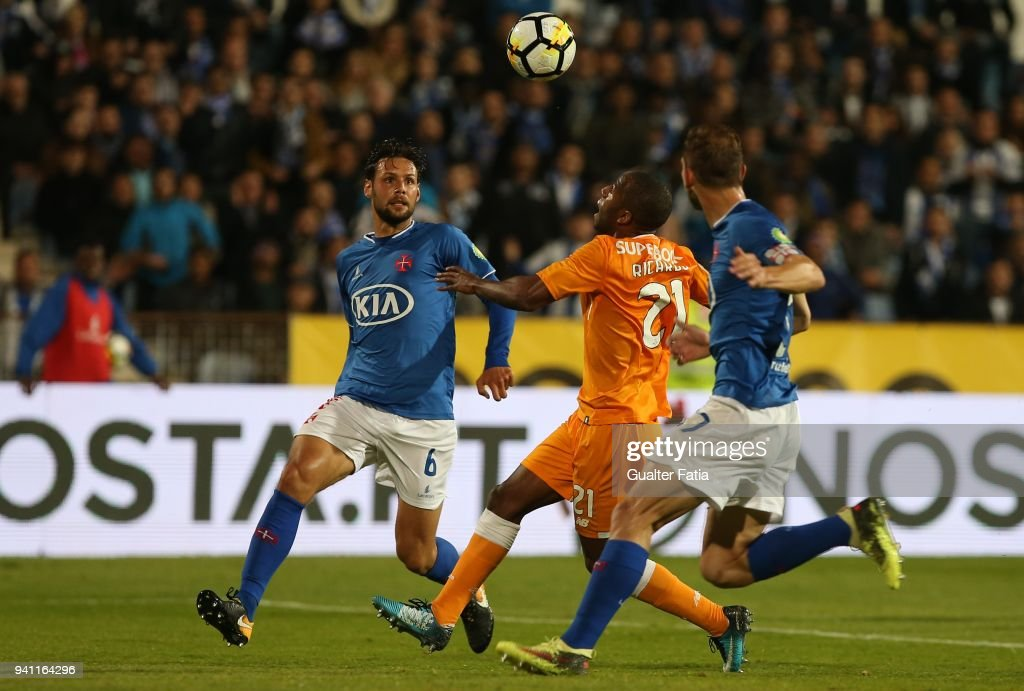 FC Porto defender Ricardo Pereira from Portugal in action during the Primeira Liga match between CF Os Belenenses and FC Porto at Estadio do Restelo on April 2, 2018 in Lisbon, Portugal.