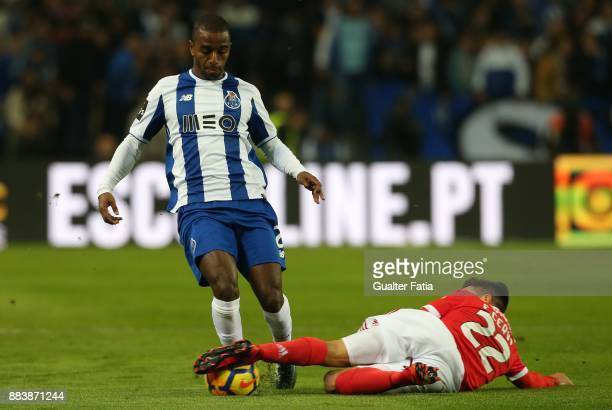 Porto defender Ricardo Pereira from Portugal with SL Benfica forward Franco Cervi from Argentina in action during the Primeira Liga match between FC...