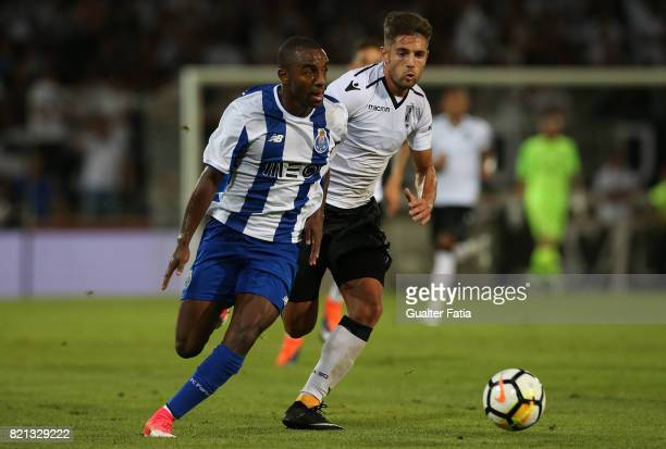 Porto defender Ricardo Pereira from Portugal with Vitoria Guimaraes forward Joao Vigario from Portugal in action during the PreSeason Friendly match...